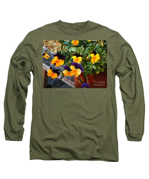Hello Spring Long Sleeve T-Shirt by Donna Dixon