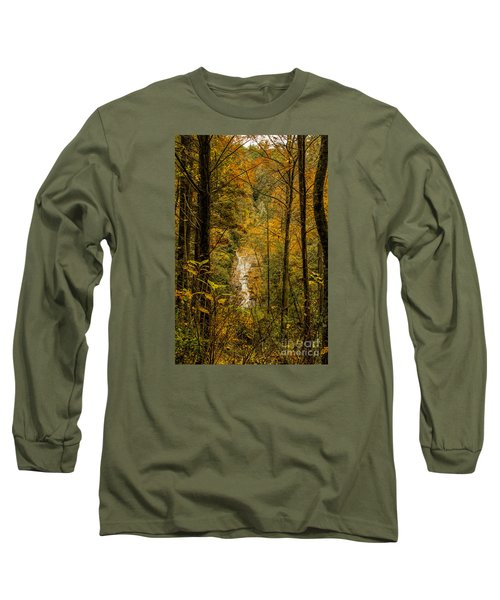 Helton Falls Through The Leaves Long Sleeve T-Shirt by Barbara Bowen