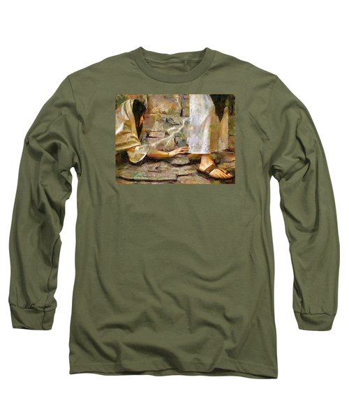 Hem Of His Garment Long Sleeve T-Shirt by Wayne Pascall
