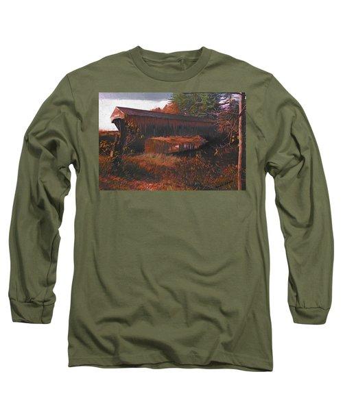 Hemlock Covered Bridge Long Sleeve T-Shirt