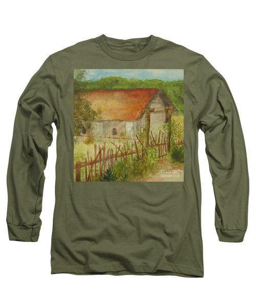 Long Sleeve T-Shirt featuring the painting Herb Garden by Vicki  Housel