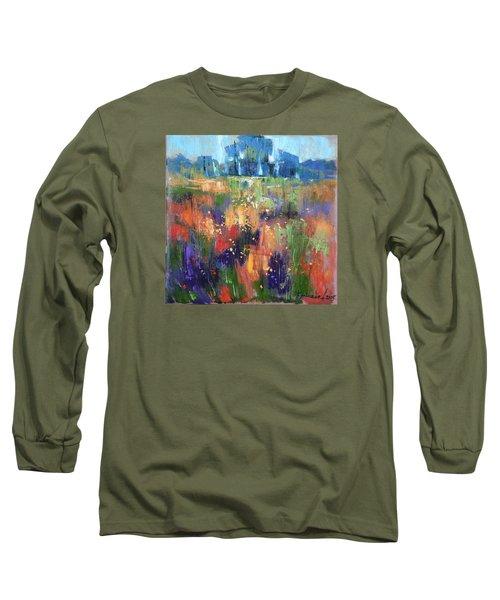 Long Sleeve T-Shirt featuring the painting Herbs by Anastasija Kraineva