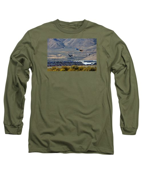 Here's Looking Back At You.  T6 Race. Long Sleeve T-Shirt