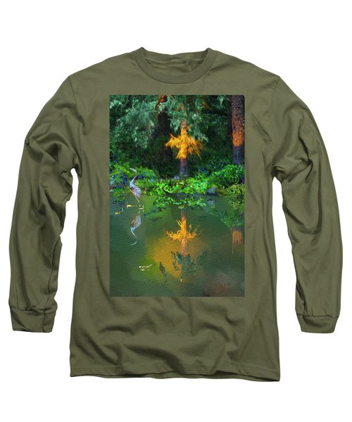 Heron Art Long Sleeve T-Shirt by Dale Stillman