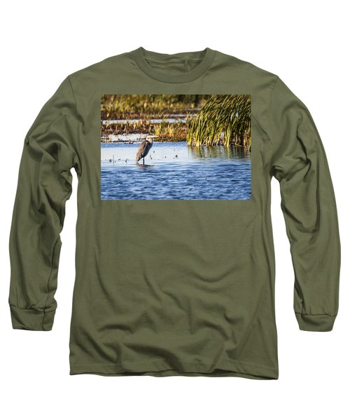 Heron - Horicon Marsh - Wisconsin Long Sleeve T-Shirt