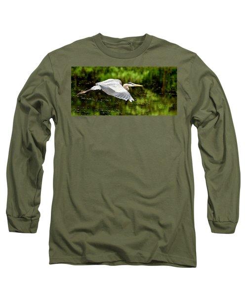 Heron In Flight Long Sleeve T-Shirt