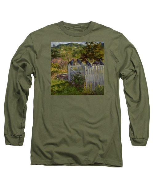 Hey Look Here Long Sleeve T-Shirt by Jane Thorpe