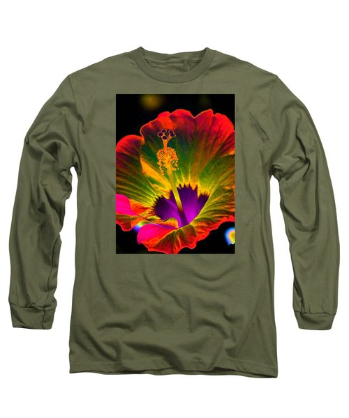 Hibiscus 01 - Summer's End - Photopower 3189 Long Sleeve T-Shirt by Pamela Critchlow