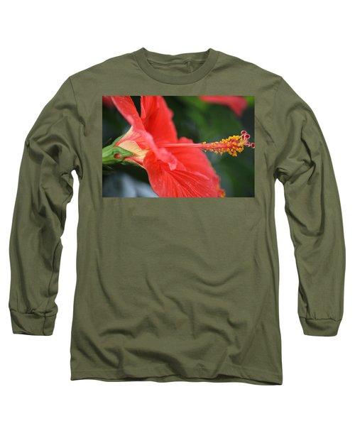 Hibiscus Closeup Long Sleeve T-Shirt