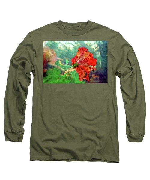 Hibiscus Flame Long Sleeve T-Shirt