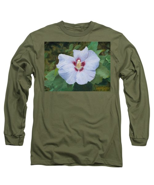 Long Sleeve T-Shirt featuring the painting Hibiscus by Joshua Martin