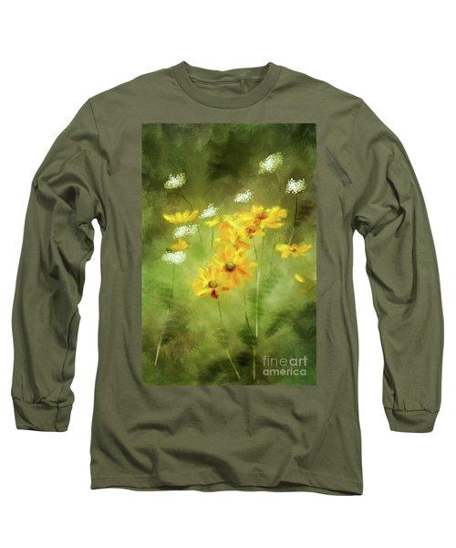 Long Sleeve T-Shirt featuring the digital art Hidden Gems by Lois Bryan