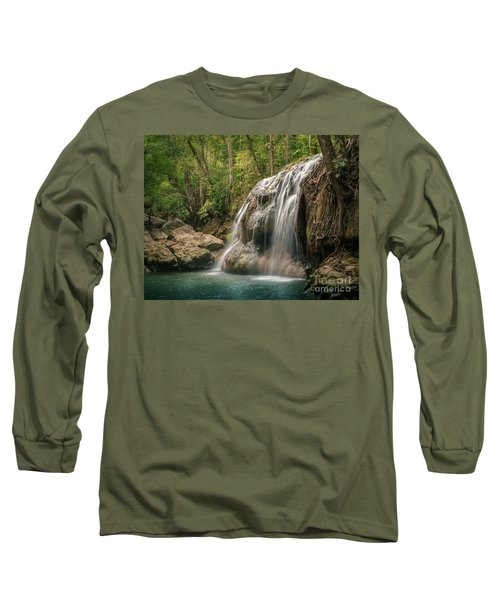 Long Sleeve T-Shirt featuring the photograph Hidden In The Jungle Of Guatemala by Jola Martysz