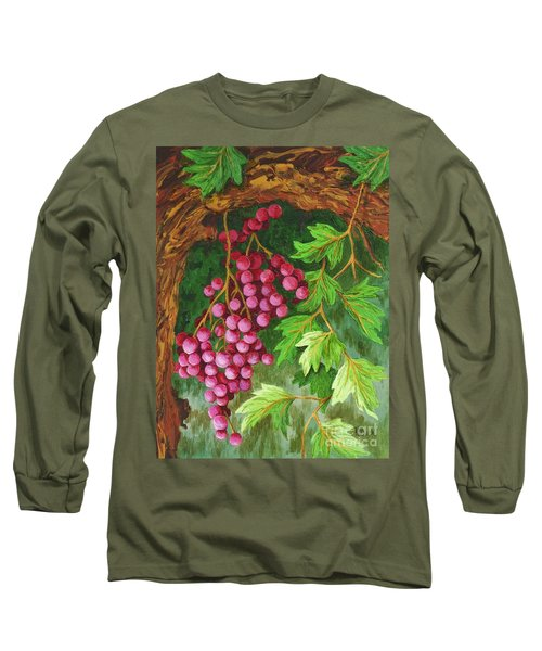 Long Sleeve T-Shirt featuring the painting Hidden Treasure by Katherine Young-Beck