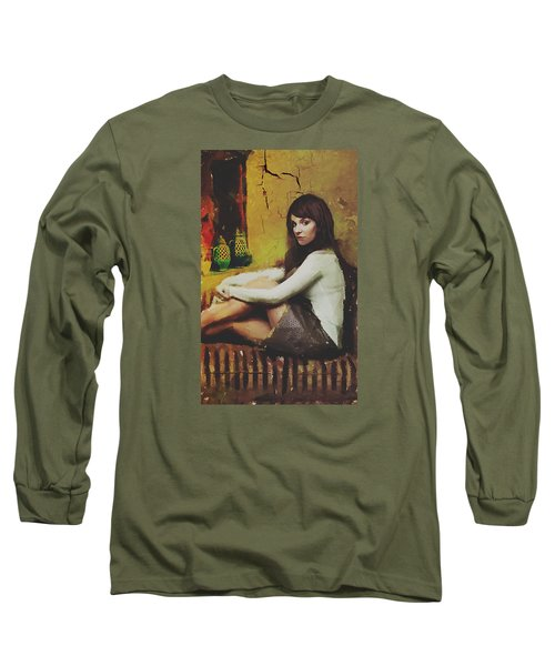 Long Sleeve T-Shirt featuring the digital art Hideaway by Galen Valle