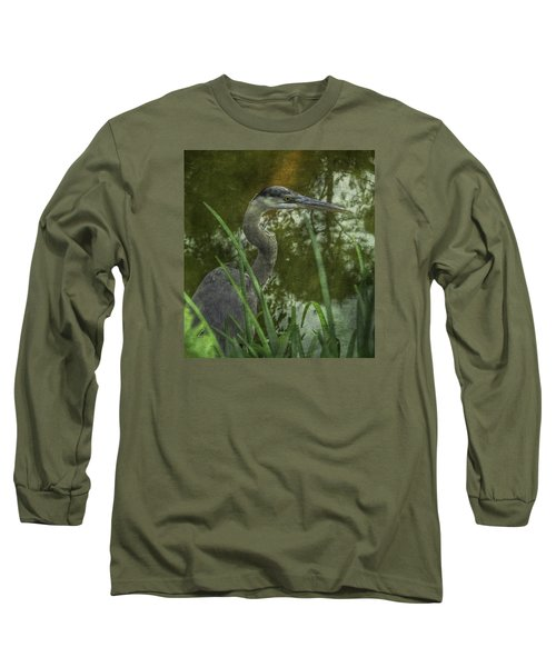 Hiding In The Grass Long Sleeve T-Shirt by Arlene Carmel