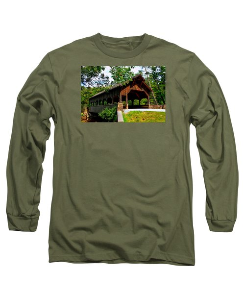 High Falls Covered Bridge Long Sleeve T-Shirt