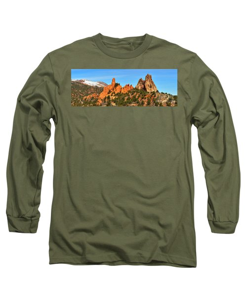 Long Sleeve T-Shirt featuring the photograph High Point Panorama At Garden Of The Gods by Adam Jewell