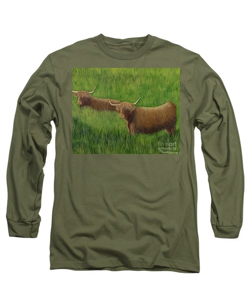 Highland Cows Long Sleeve T-Shirt