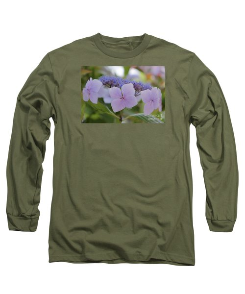 Highlands Hydrangea Long Sleeve T-Shirt by Amy Fearn