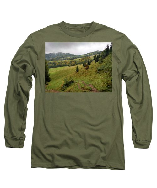 Highlands Landscape In Pieniny Long Sleeve T-Shirt