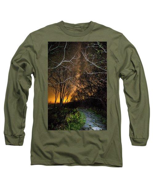 Hiking The Milky Way Long Sleeve T-Shirt