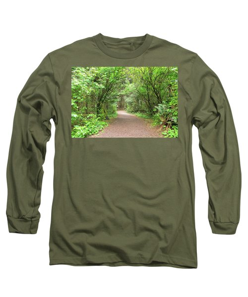 Hiking Trail Along Lewis And Clark River Long Sleeve T-Shirt