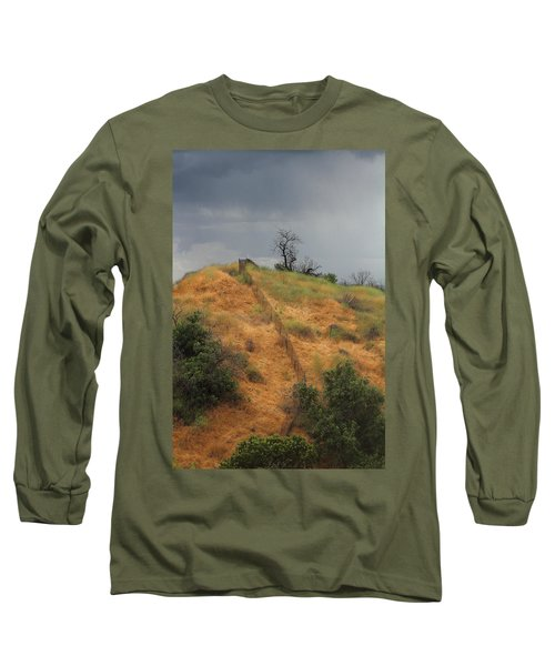 Hill Divided By Fence Long Sleeve T-Shirt