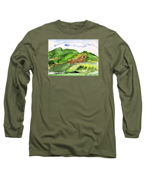 Hillside And Clouds Long Sleeve T-Shirt