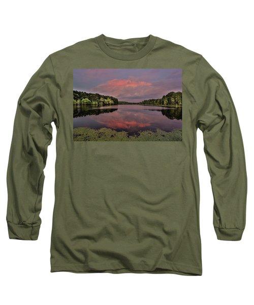 Hinson Lake Clouds Long Sleeve T-Shirt