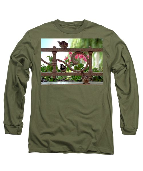 His Eye Is On The Sparrow Long Sleeve T-Shirt by Marie Hicks