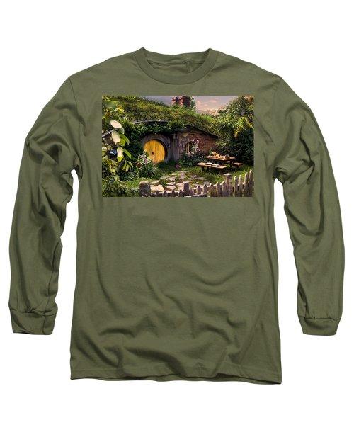 Hobbit Hole At Sunset Long Sleeve T-Shirt