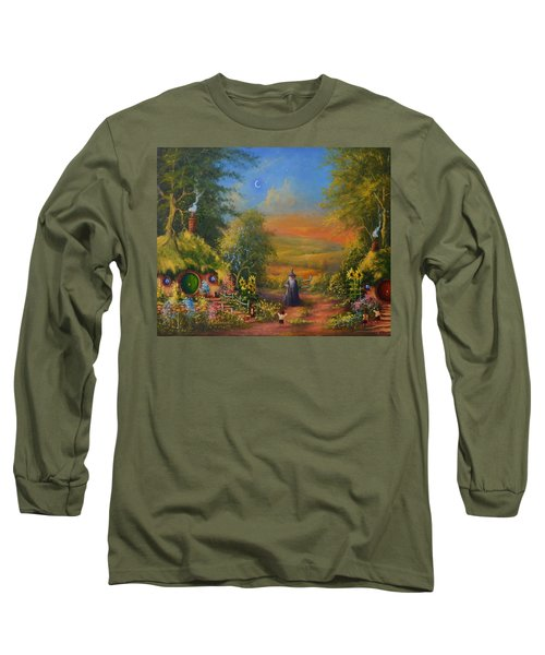 Hobbiton, Disturbing The Peace  Long Sleeve T-Shirt by Joe  Gilronan
