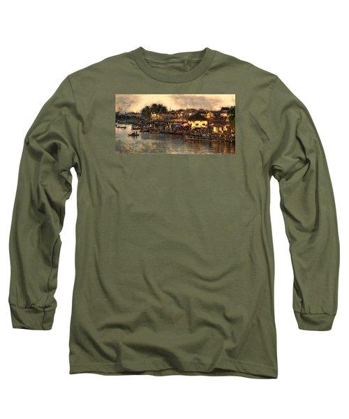 Long Sleeve T-Shirt featuring the digital art Hoi Ahnscape by Cameron Wood