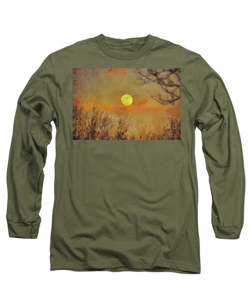 Long Sleeve T-Shirt featuring the mixed media Hollow's Eve by Trish Tritz