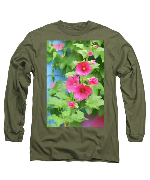 Hollyhocks - 1 Long Sleeve T-Shirt