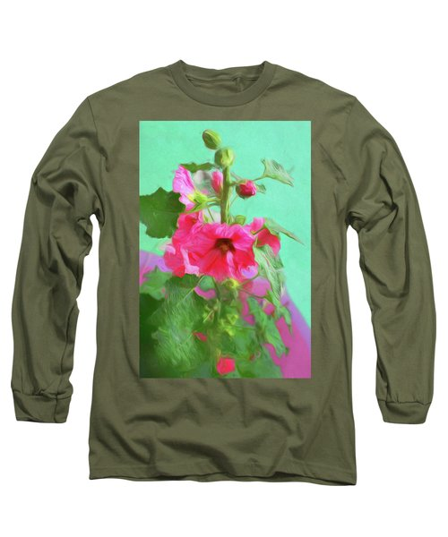 Hollyhocks - 2  Long Sleeve T-Shirt