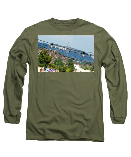 Long Sleeve T-Shirt featuring the photograph Hollywood Sign On The Hill 1 by Micah May