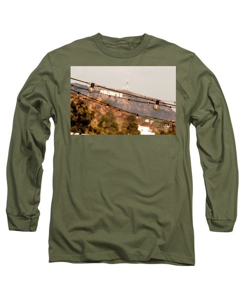Long Sleeve T-Shirt featuring the photograph Hollywood Sign On The Hill 2 by Micah May
