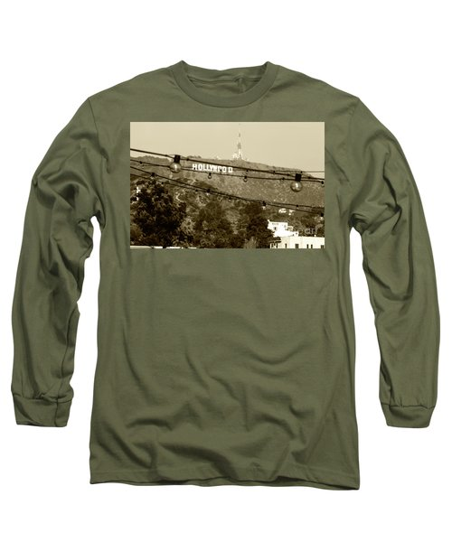 Long Sleeve T-Shirt featuring the photograph Hollywood Sign On The Hill 4 by Micah May
