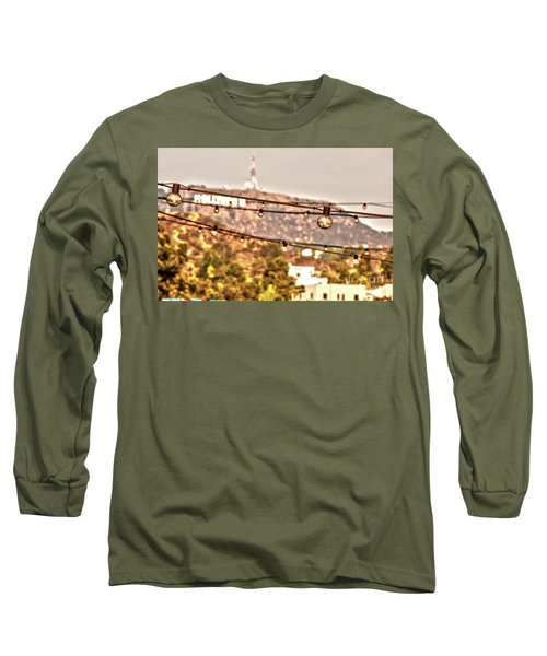 Long Sleeve T-Shirt featuring the photograph Hollywood Sign On The Hill 6 by Micah May