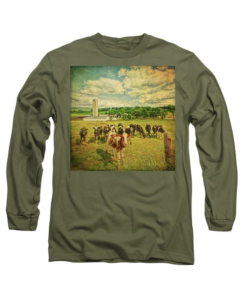 Long Sleeve T-Shirt featuring the photograph Holy Cows by Lewis Mann