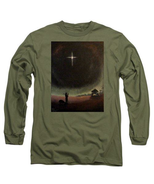 Long Sleeve T-Shirt featuring the painting Holy Night by Dan Wagner