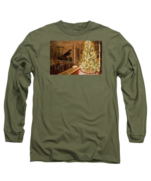 Home For Christmas Long Sleeve T-Shirt by Cathy Jourdan