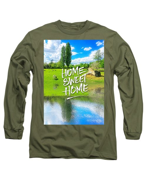 Home Sweet Home Pastoral Versailles Chateau Country Landscape Long Sleeve T-Shirt