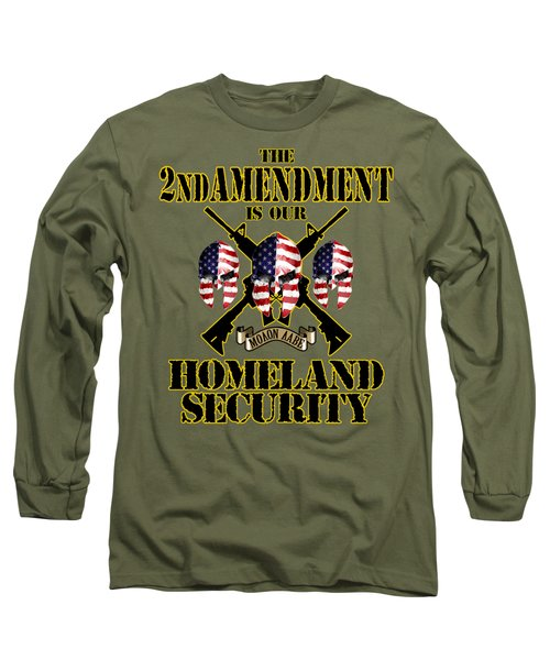 Long Sleeve T-Shirt featuring the tapestry - textile Homeland Security by Don Olea
