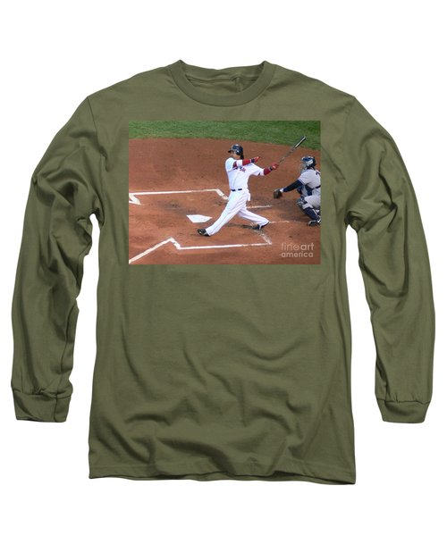Homerun Swing Long Sleeve T-Shirt by Kevin Fortier