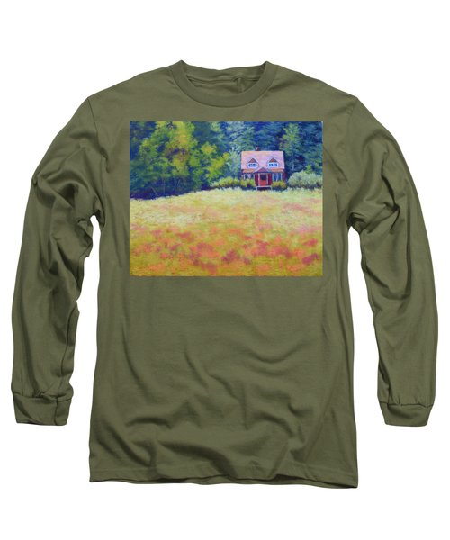 Long Sleeve T-Shirt featuring the painting Homestead by Nancy Jolley