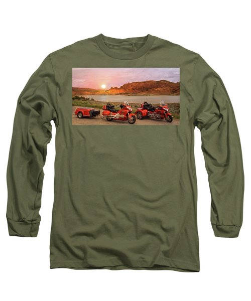 Honda Goldwing Bike Trike And Trailer Long Sleeve T-Shirt