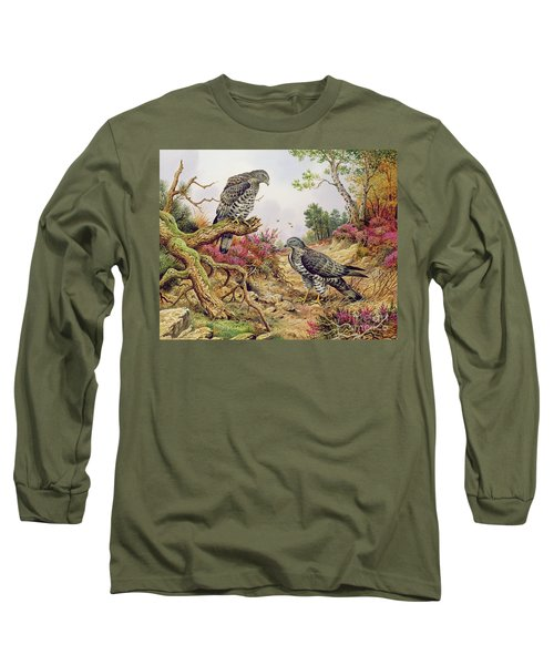 Honey Buzzards Long Sleeve T-Shirt by Carl Donner